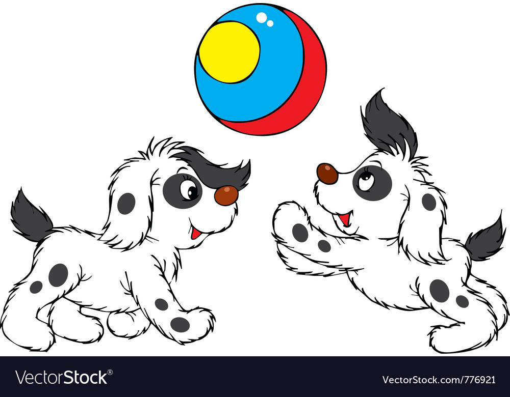 Playing puppies vector | Price: 3 Credit (USD $3)