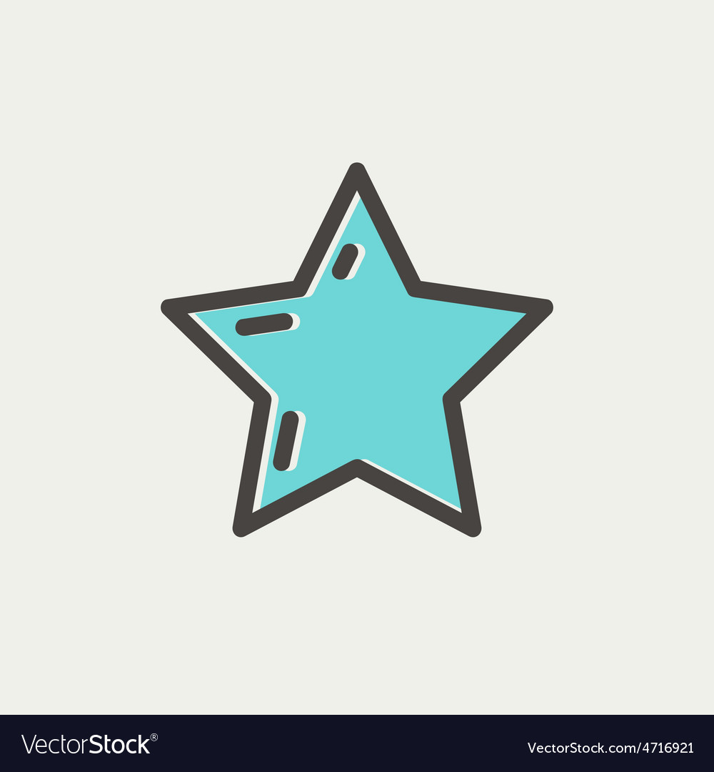 Star or best choice thin line icon vector | Price: 1 Credit (USD $1)