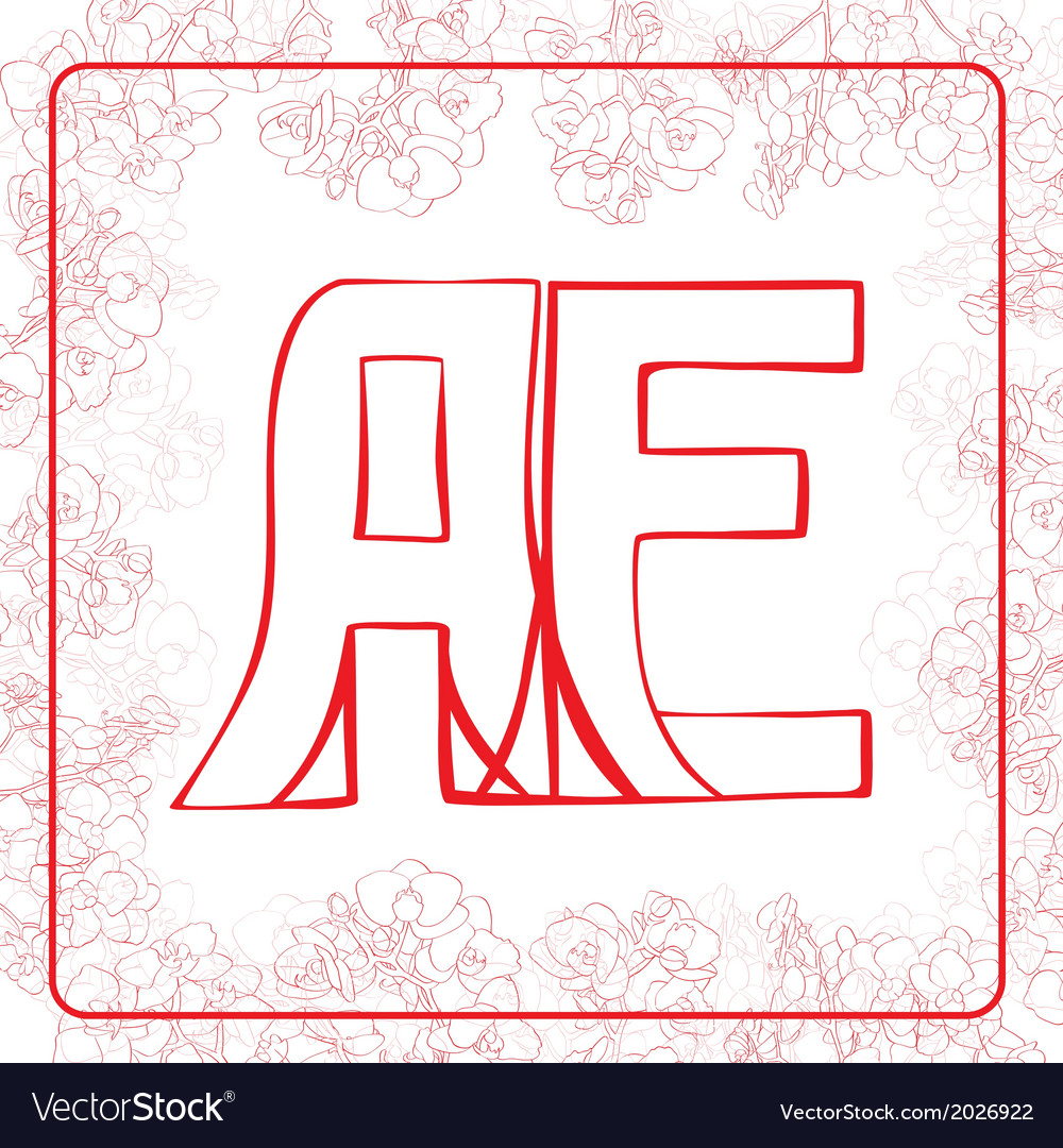 Ae monogram vector | Price: 1 Credit (USD $1)