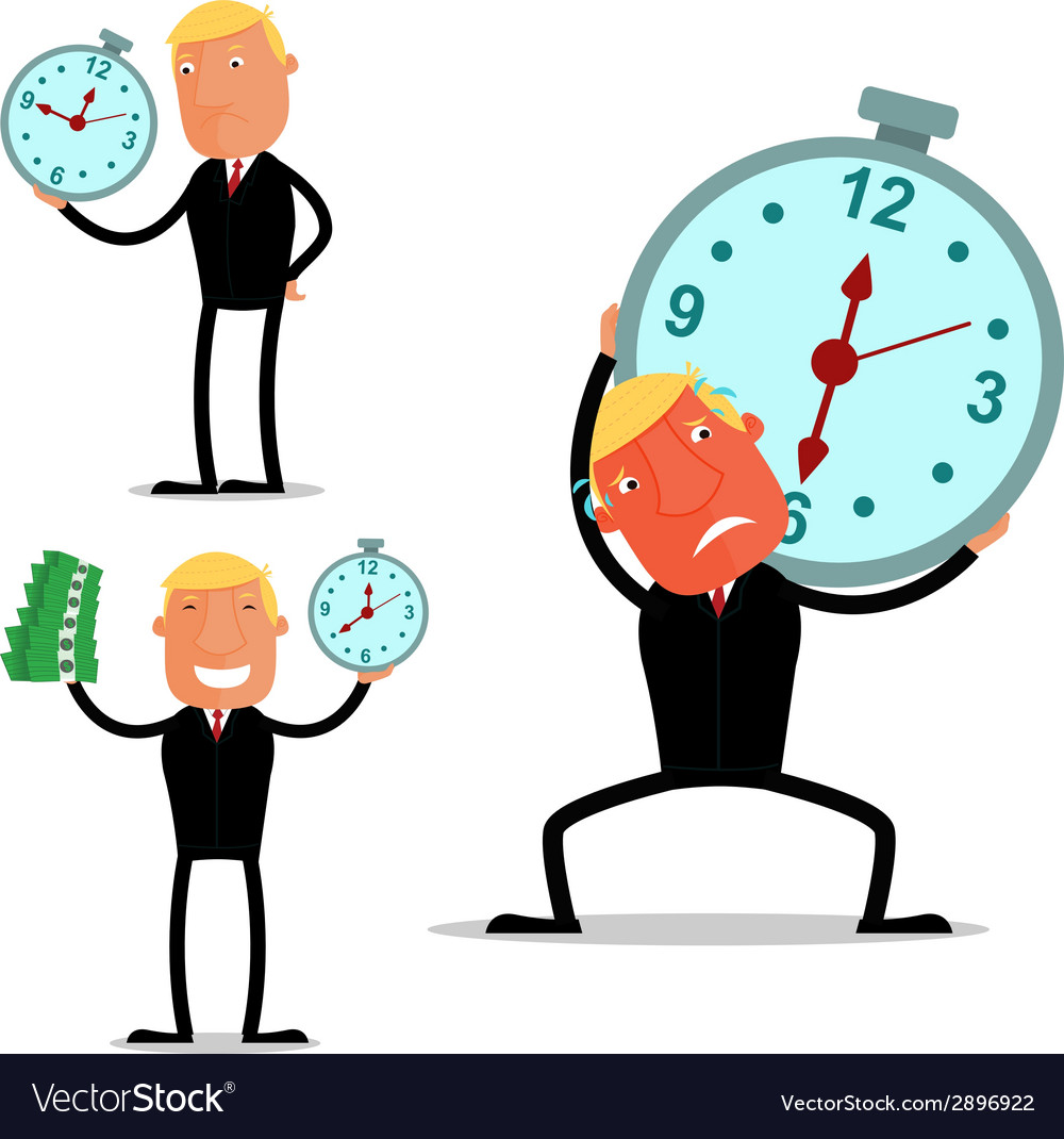 Businessman in a deadline vector | Price: 1 Credit (USD $1)