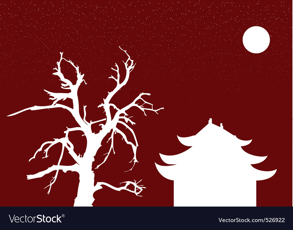 Chinese night vector | Price: 1 Credit (USD $1)