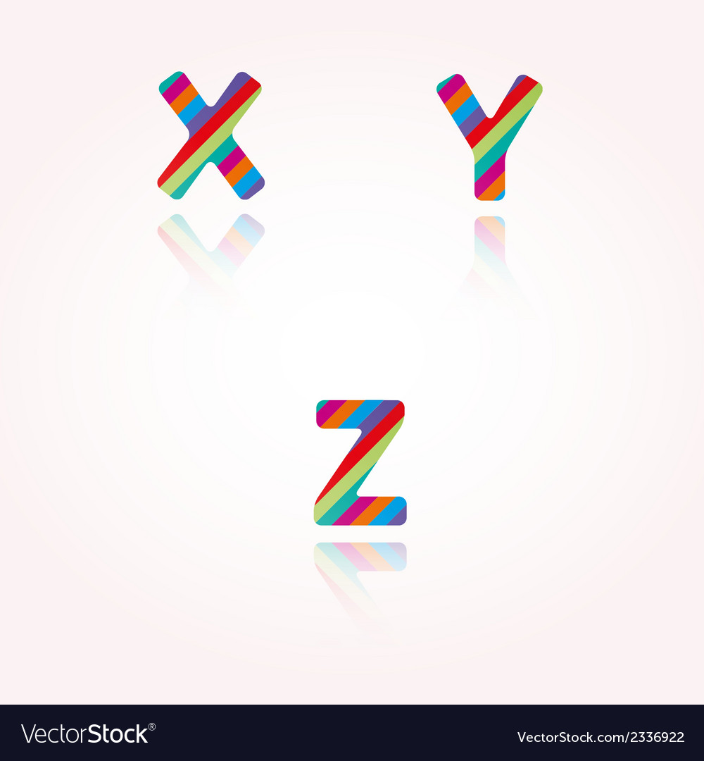 Color alphabet letters vector | Price: 1 Credit (USD $1)