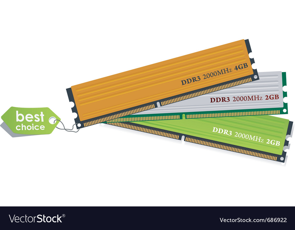 Ddr3 memory modules vector | Price: 1 Credit (USD $1)
