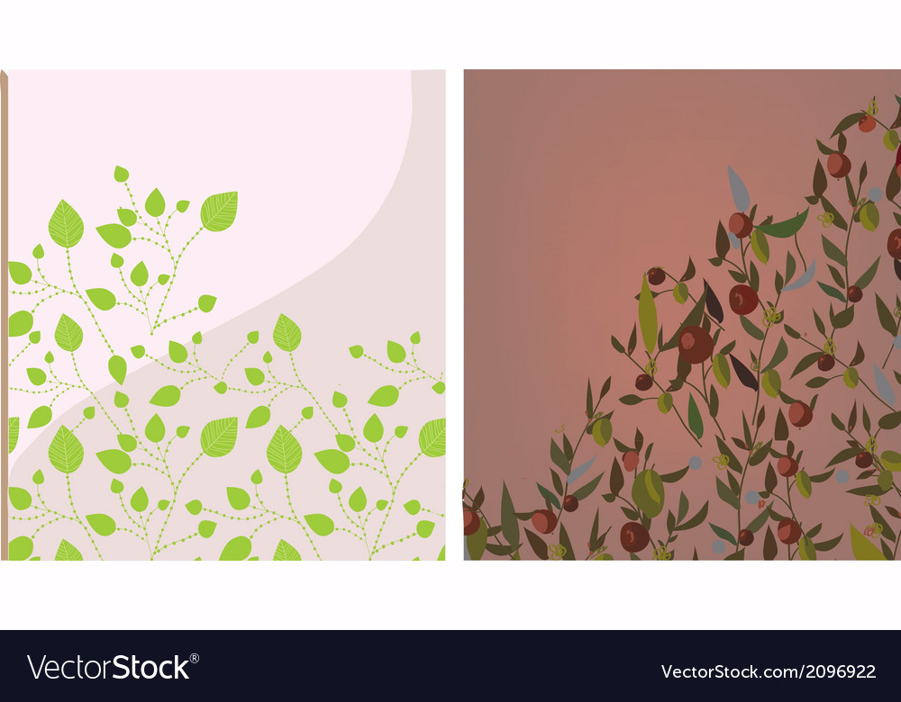 Floral background set vector | Price: 1 Credit (USD $1)