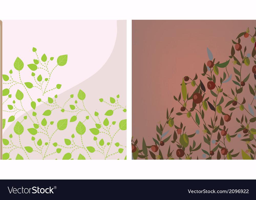 Floral background set vector | Price: 1 Credit (USD $1)