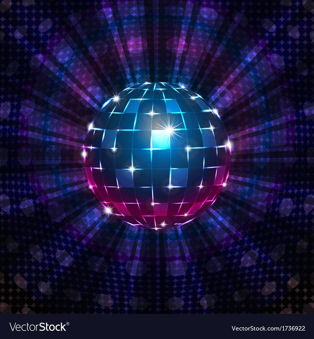 Fluorescent disco ball vector | Price: 1 Credit (USD $1)