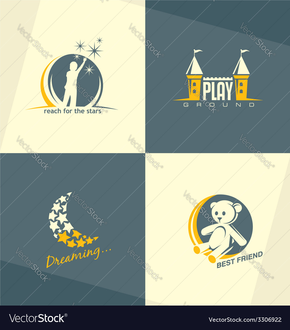 Kids world logo concepts vector | Price: 1 Credit (USD $1)