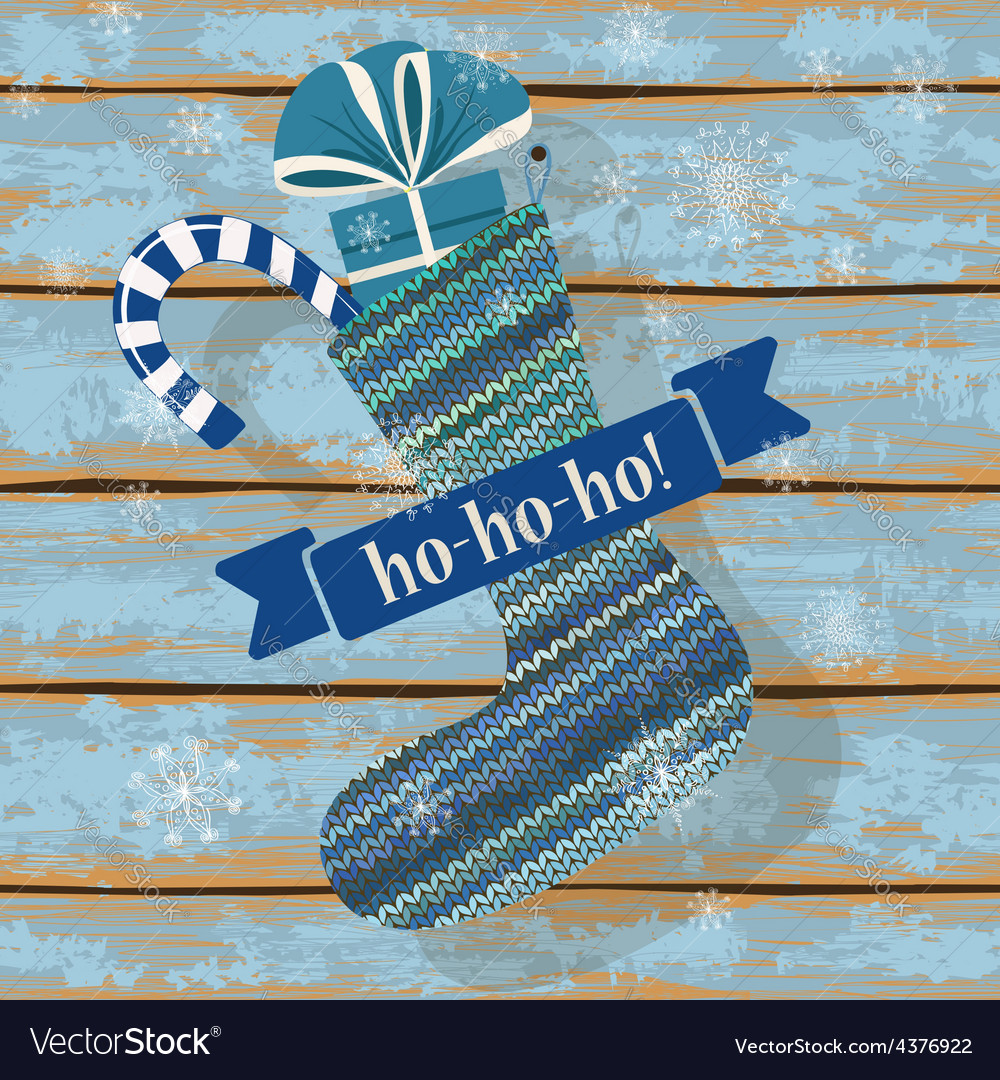 Knitted christmas sock vector | Price: 1 Credit (USD $1)