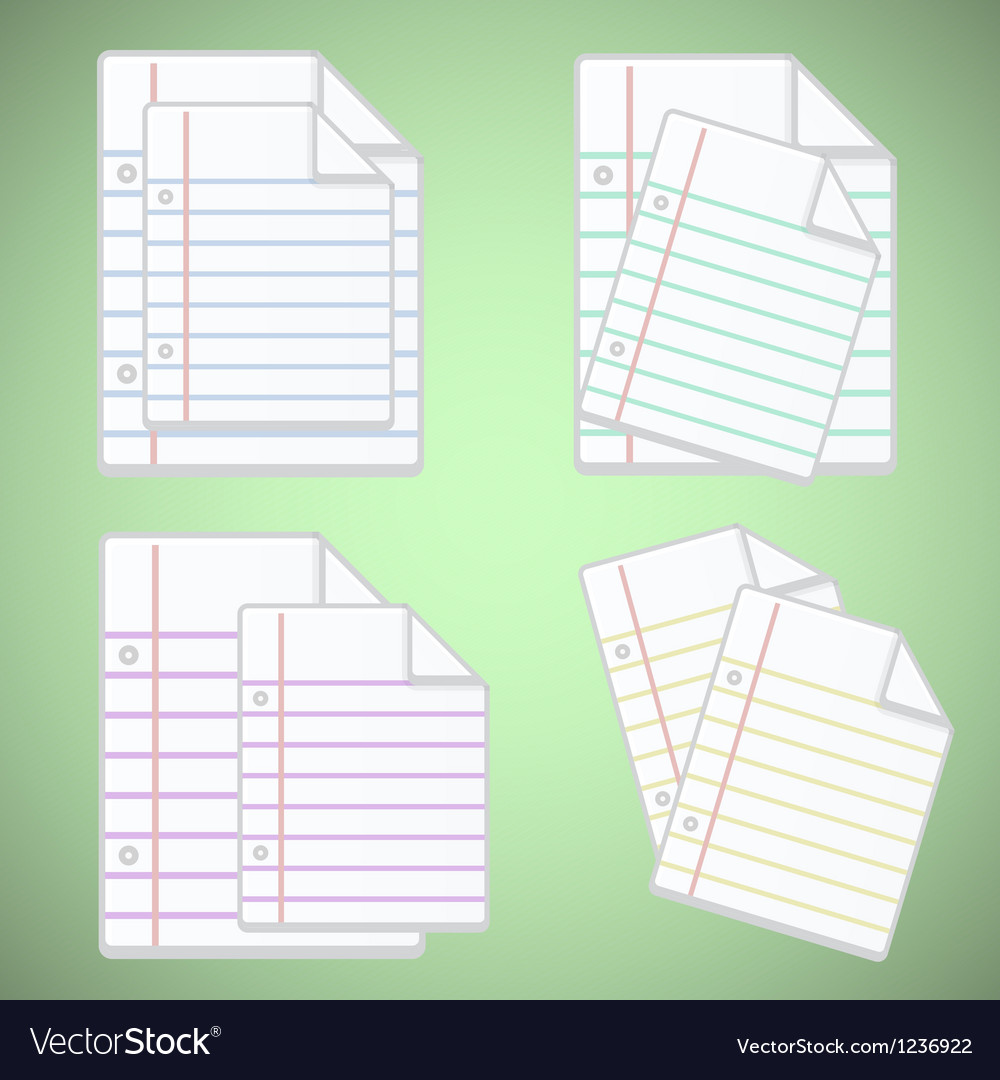 Note paper sheet with colorful lines vector | Price: 1 Credit (USD $1)