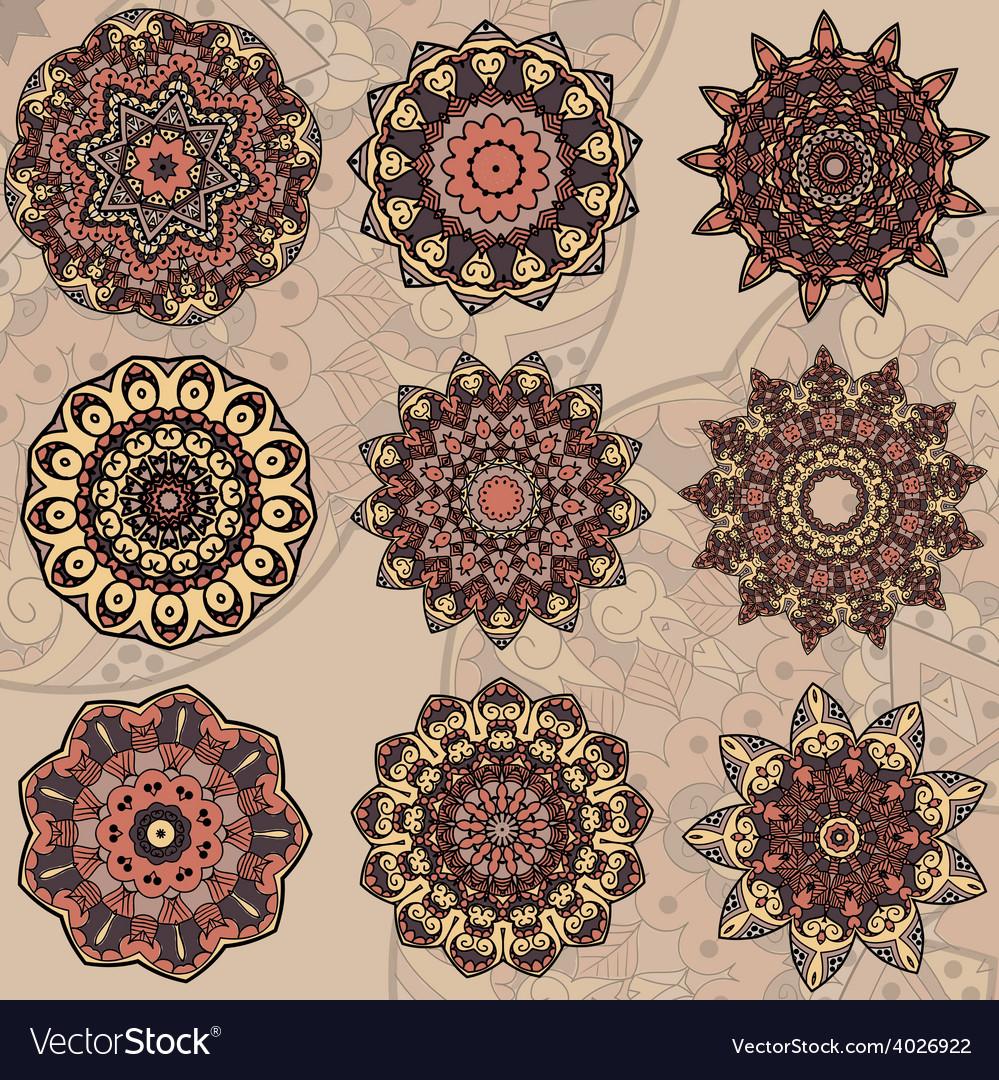 Set of 9 mandalas vector | Price: 1 Credit (USD $1)