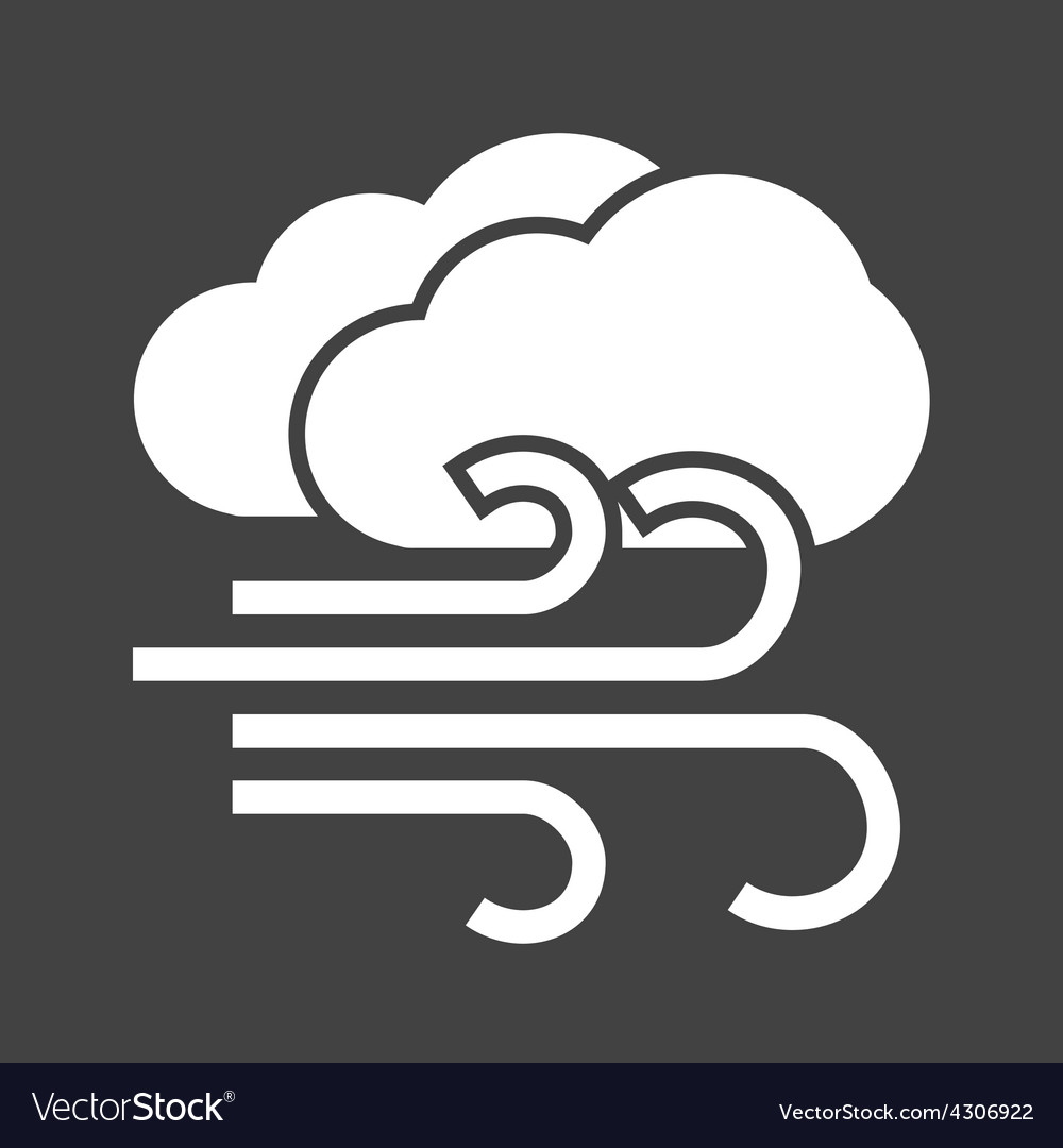 Windy and cloudy vector | Price: 1 Credit (USD $1)