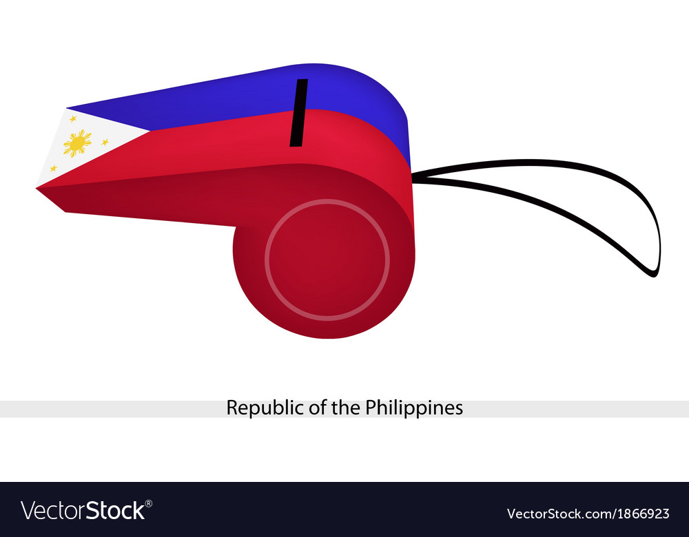 A whistle of republic of the philippines vector | Price: 1 Credit (USD $1)
