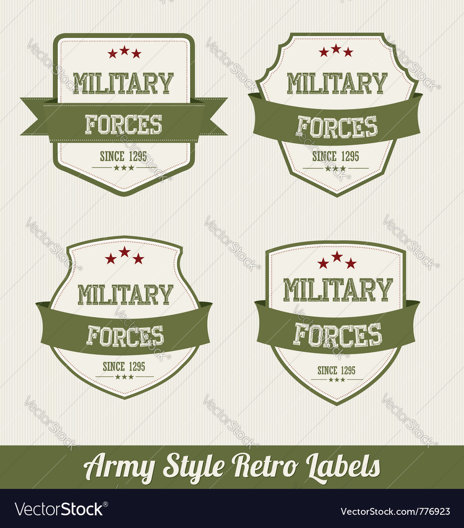 Army labels vector | Price: 1 Credit (USD $1)