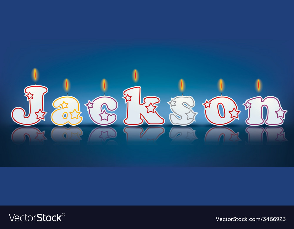 Jackson written with burning candles vector | Price: 1 Credit (USD $1)