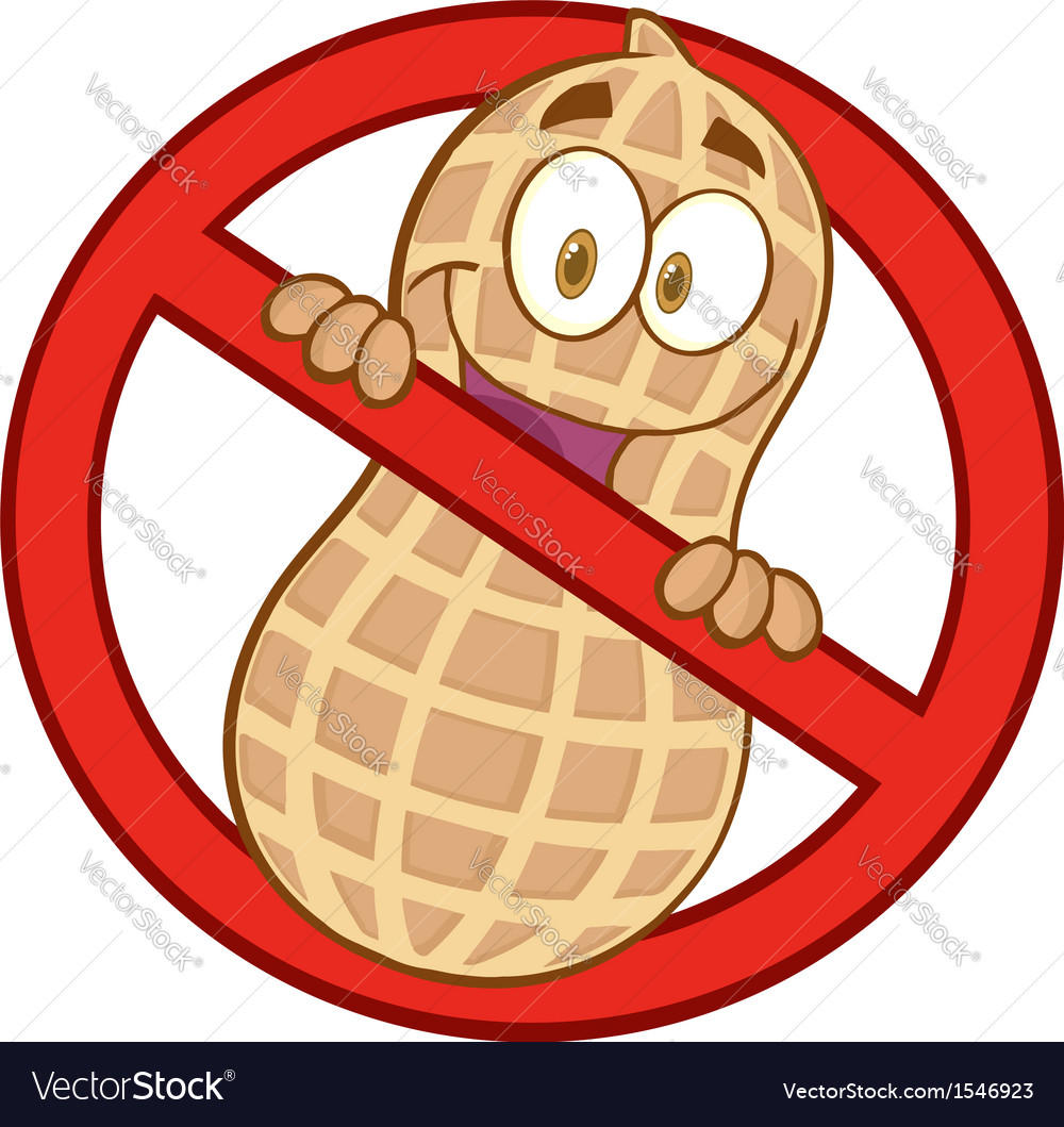 No peanuts vector | Price: 1 Credit (USD $1)