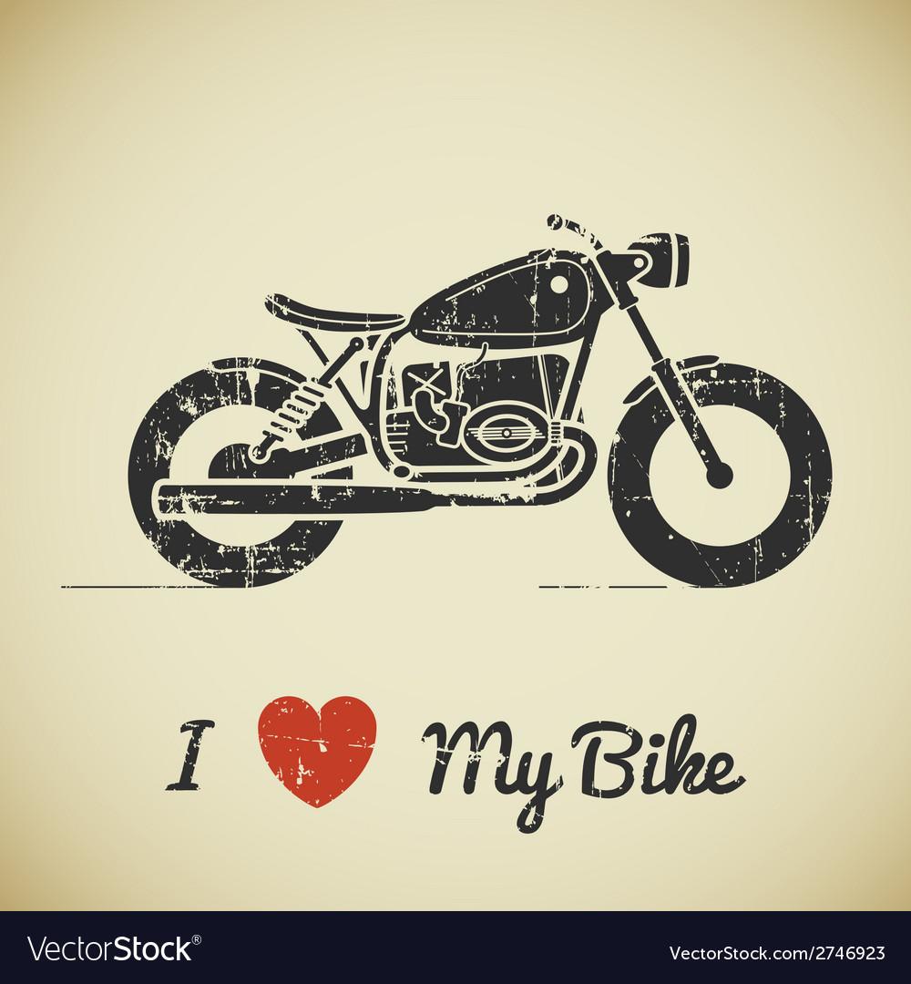 Retro motorcycle vector | Price: 1 Credit (USD $1)