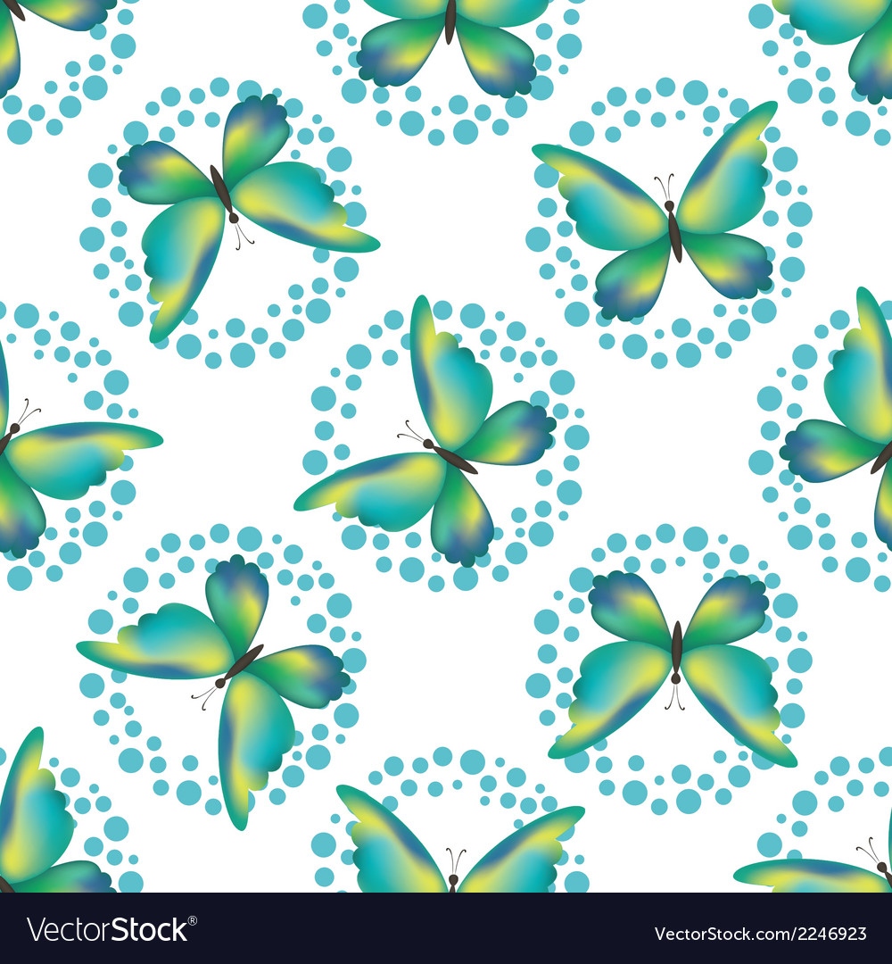 Seamless background butterflies vector | Price: 1 Credit (USD $1)