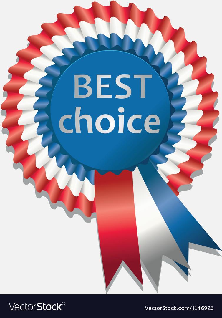 Tri color rosette ribbon vector | Price: 1 Credit (USD $1)