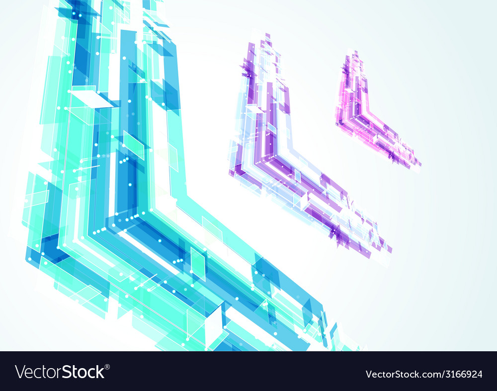 Abstract bright geometrical arrows vector | Price: 1 Credit (USD $1)