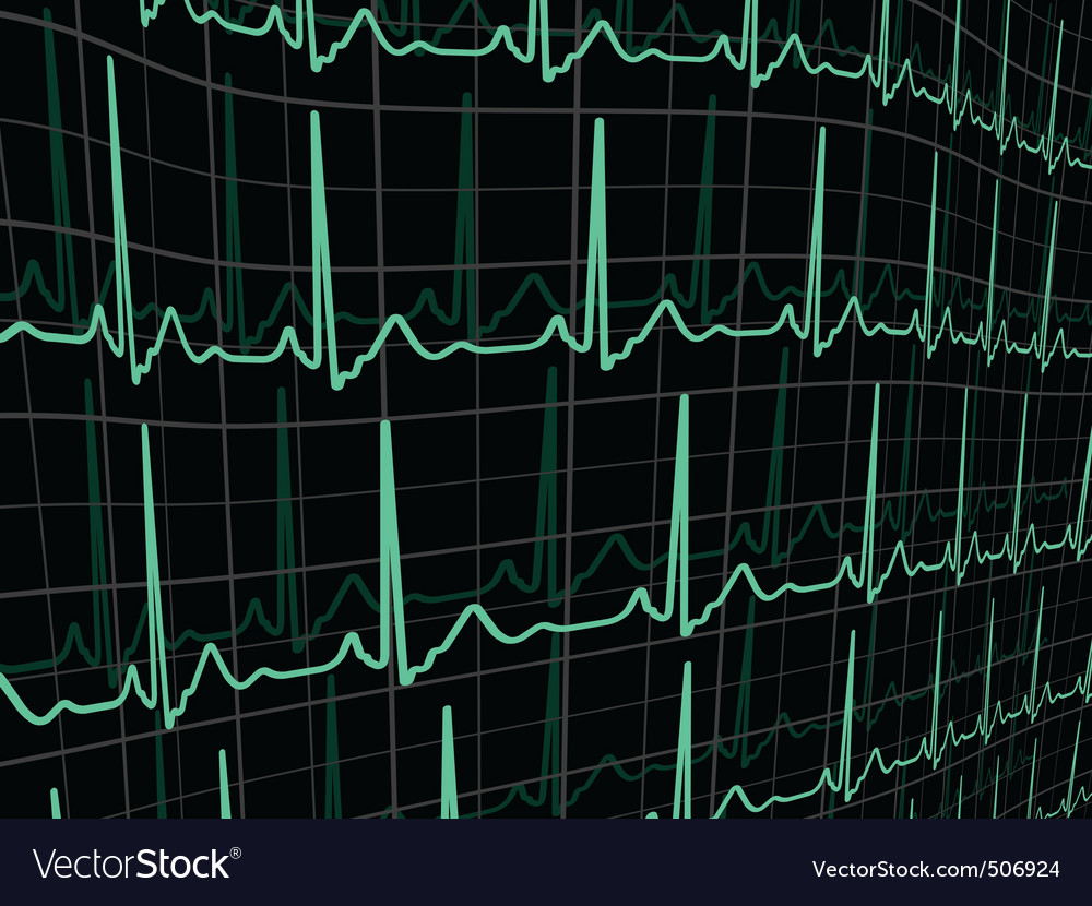 Heartbeat on a black monitor eps 8 vector | Price: 1 Credit (USD $1)