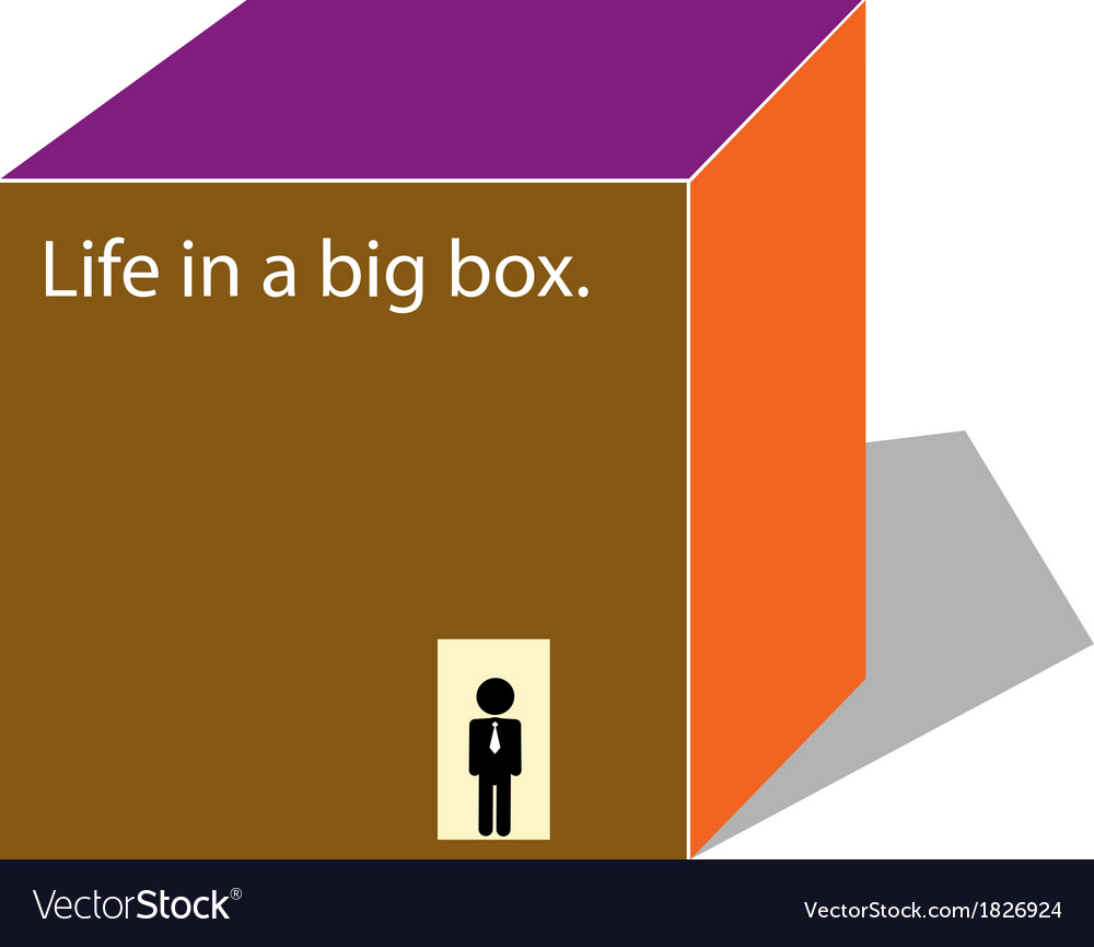 Life in a box vector | Price: 1 Credit (USD $1)