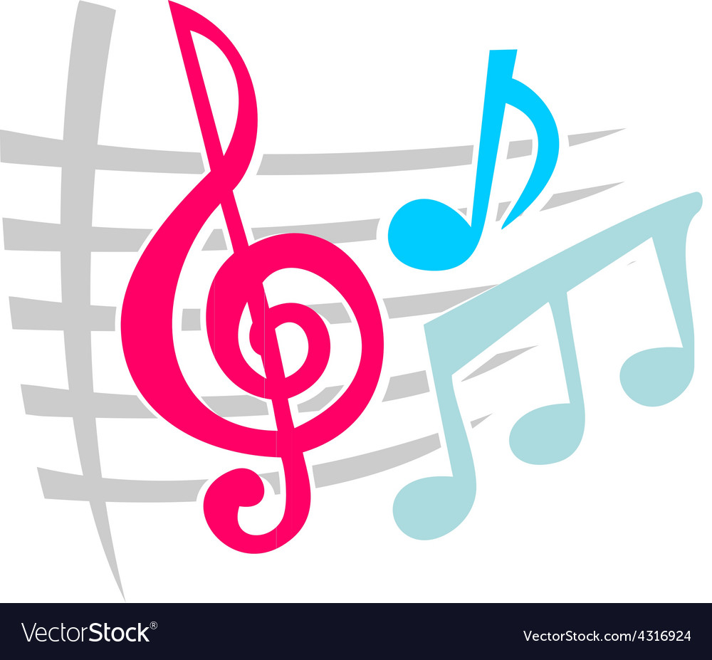Notes music symbols vector | Price: 1 Credit (USD $1)