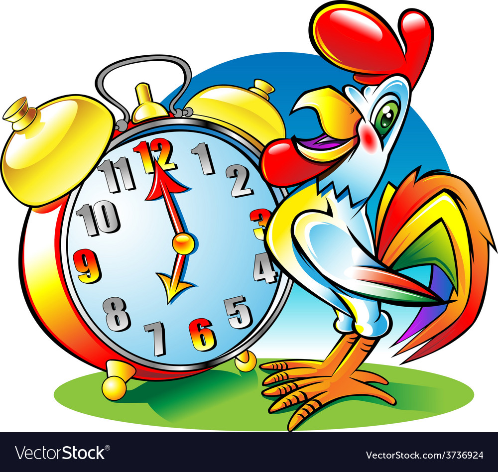Roosterclock vector | Price: 3 Credit (USD $3)