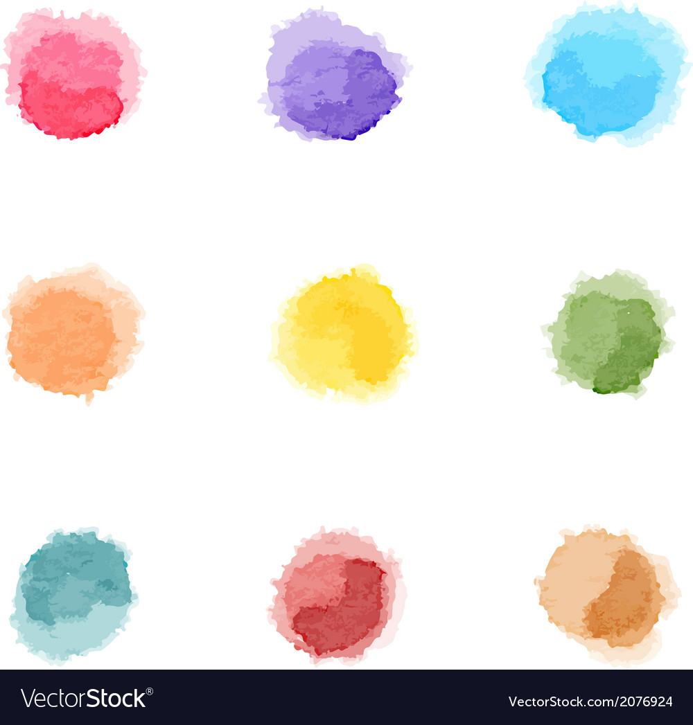 Watercolor rainbow dots vector | Price: 1 Credit (USD $1)