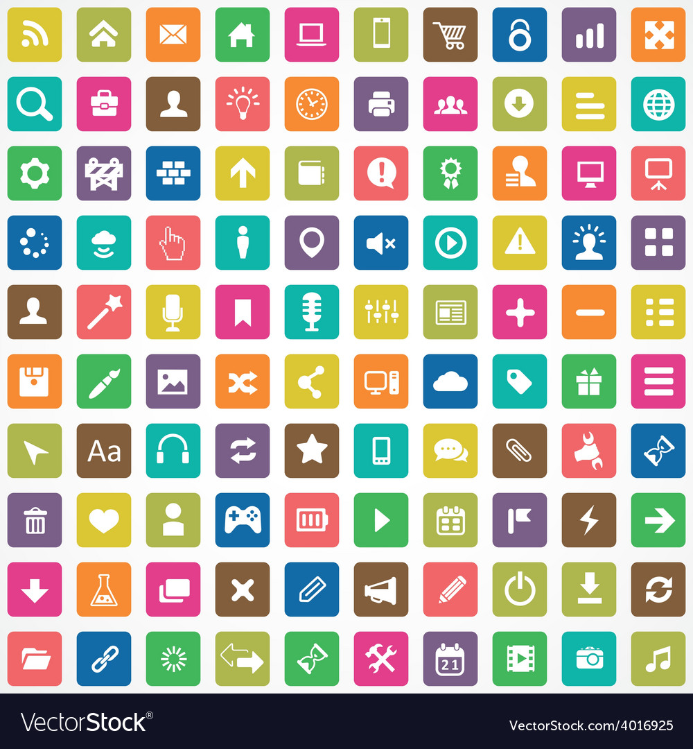 100 webdesign icons vector | Price: 1 Credit (USD $1)