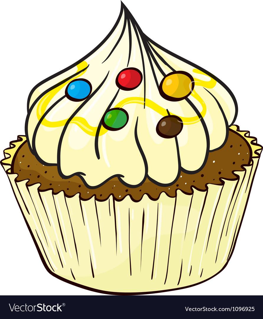 A cupcake vector | Price: 1 Credit (USD $1)