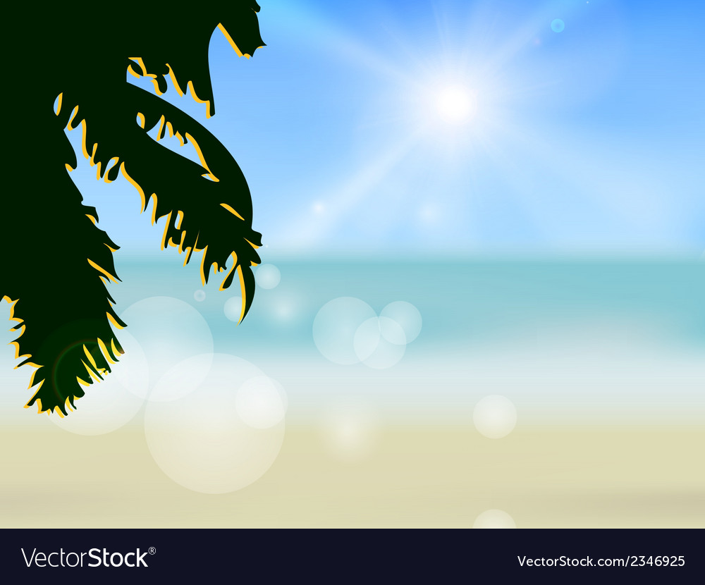 Azure beach vector | Price: 1 Credit (USD $1)