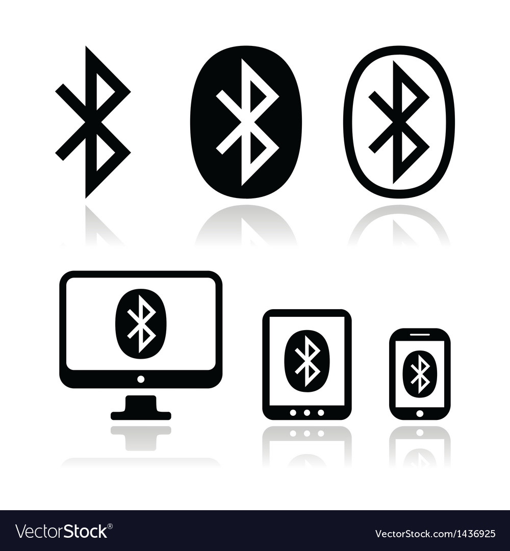 Bluetooth connection icons set vector | Price: 1 Credit (USD $1)