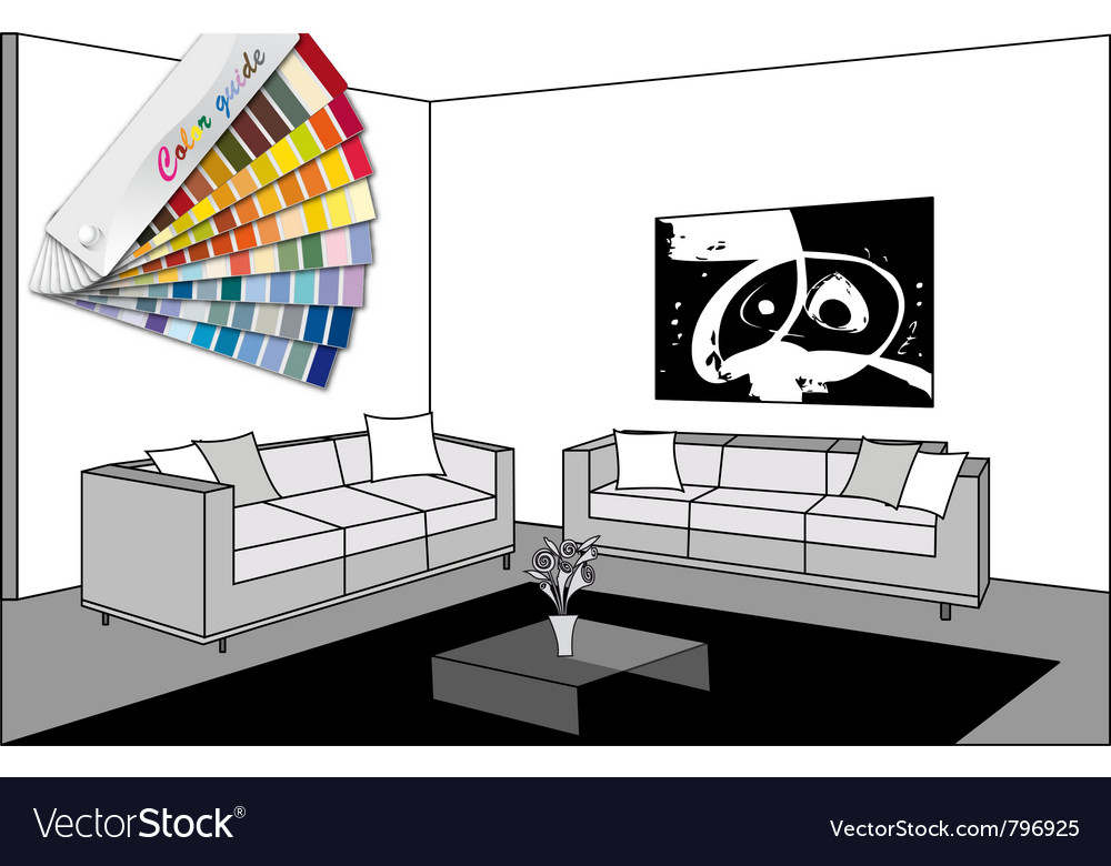 Bw room and color guide vector | Price: 1 Credit (USD $1)