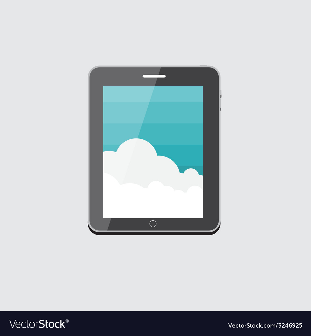 Flat computer tablet concept vector | Price: 1 Credit (USD $1)