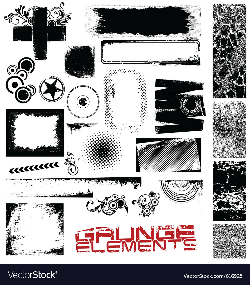 Grunge elements vector | Price: 1 Credit (USD $1)