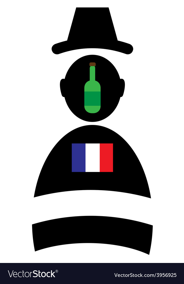 Icon of man with bottle and flag vector | Price: 1 Credit (USD $1)