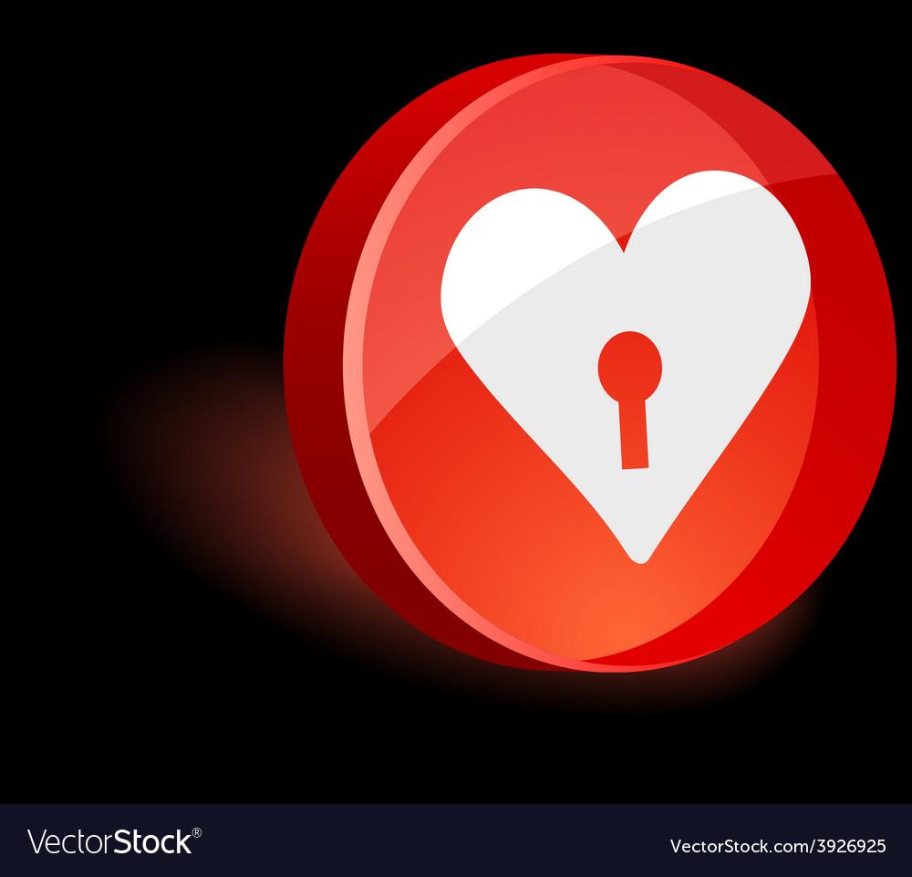 Love icon vector | Price: 1 Credit (USD $1)