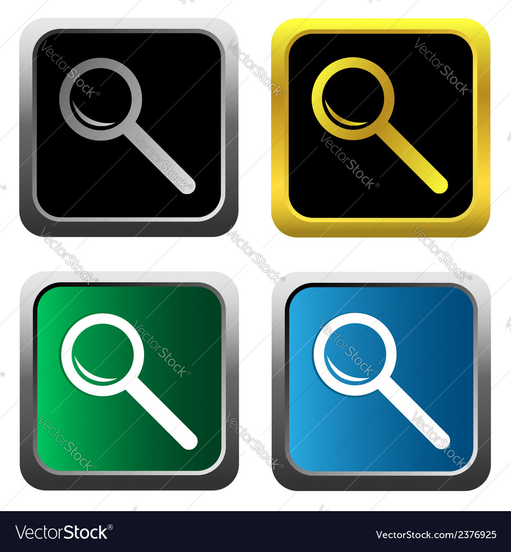 Magnifying glass set vector | Price: 1 Credit (USD $1)