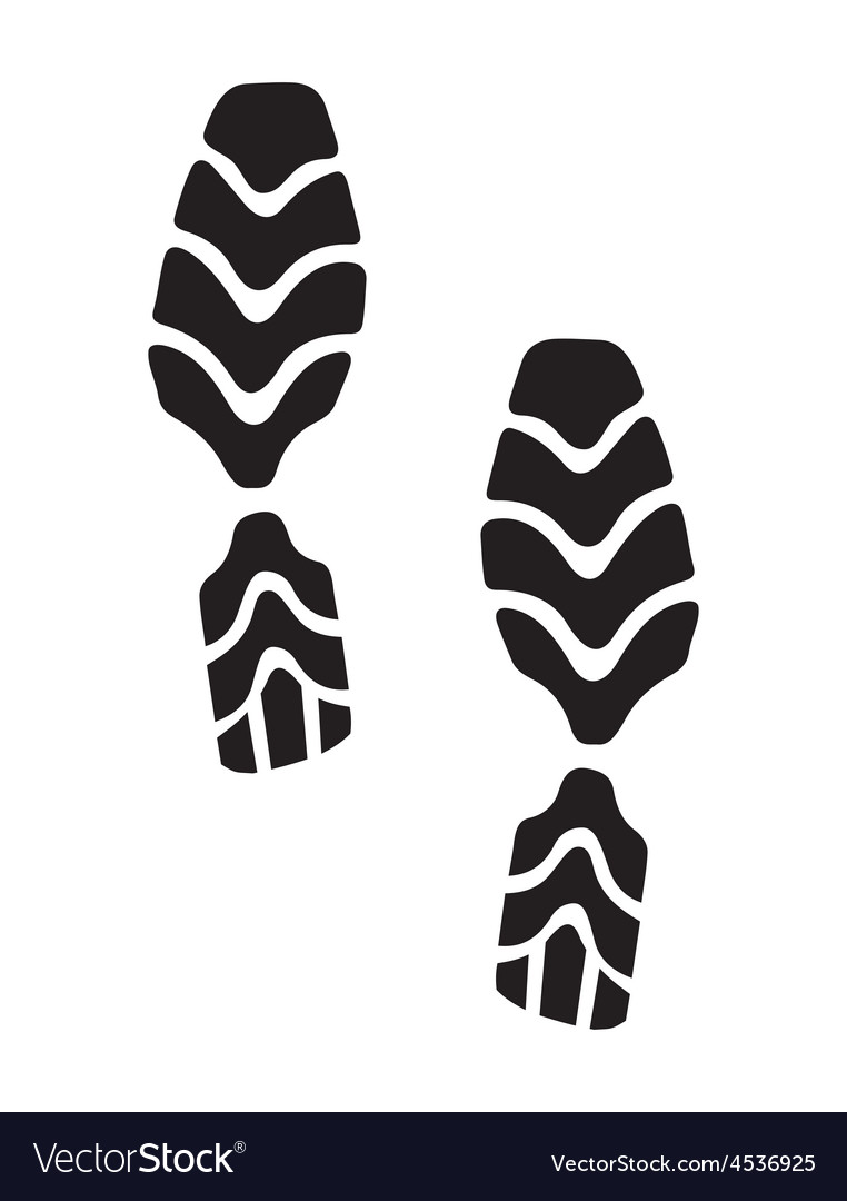 New foot print2 resize vector | Price: 1 Credit (USD $1)