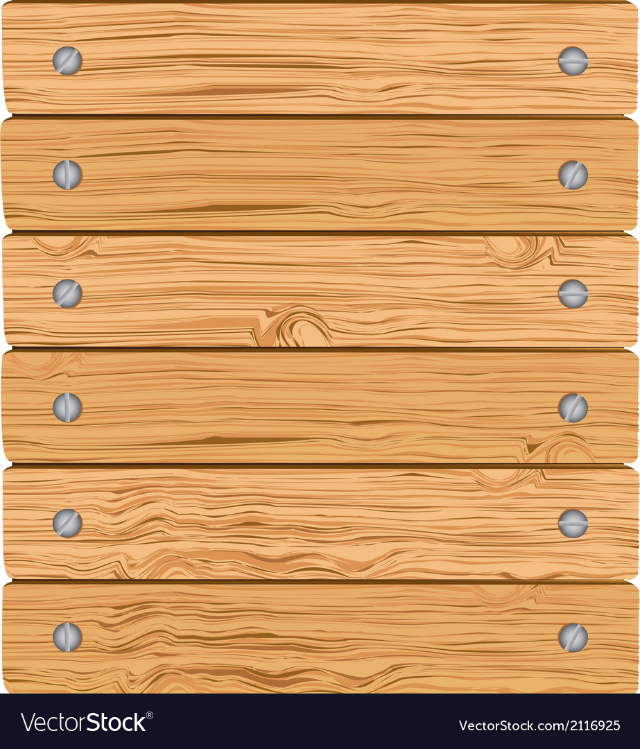 Pattern of wooden boards with screws vector | Price: 1 Credit (USD $1)