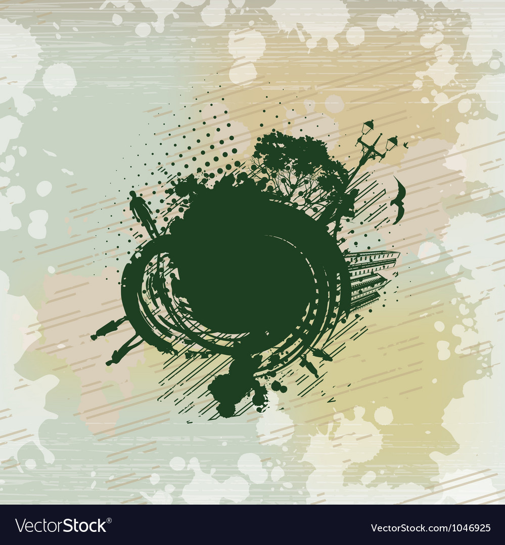 People communicate on an abstract painting vector | Price: 1 Credit (USD $1)