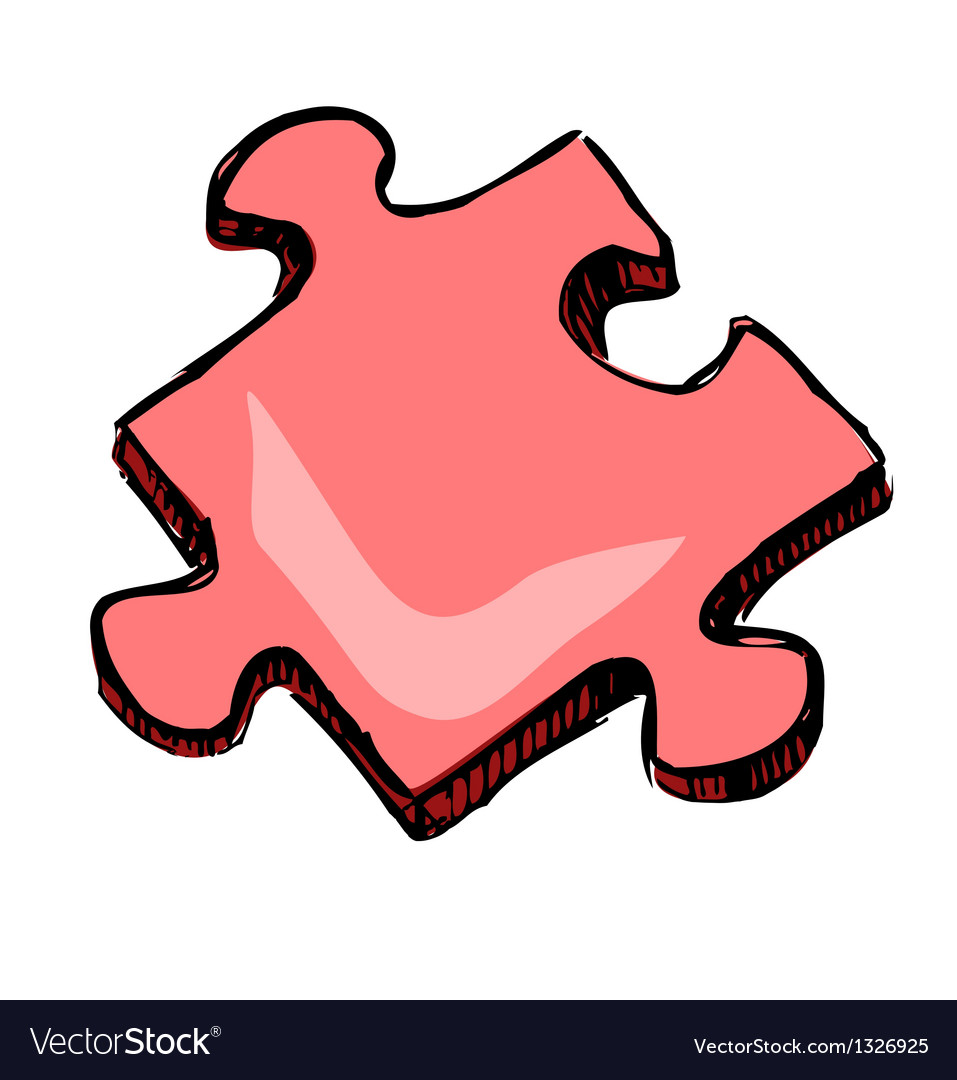 Piece of jigsaw puzzle vector | Price: 1 Credit (USD $1)