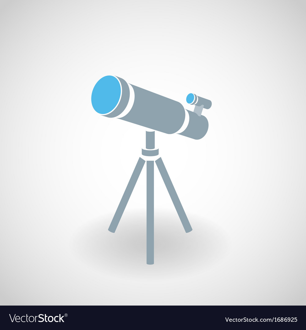 Simple icon of 3d telescope vector | Price: 1 Credit (USD $1)