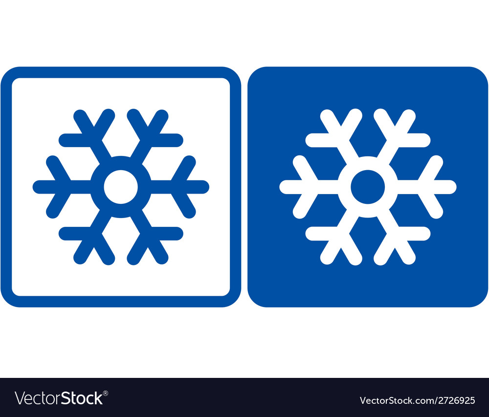 Snowflake sign vector | Price: 1 Credit (USD $1)