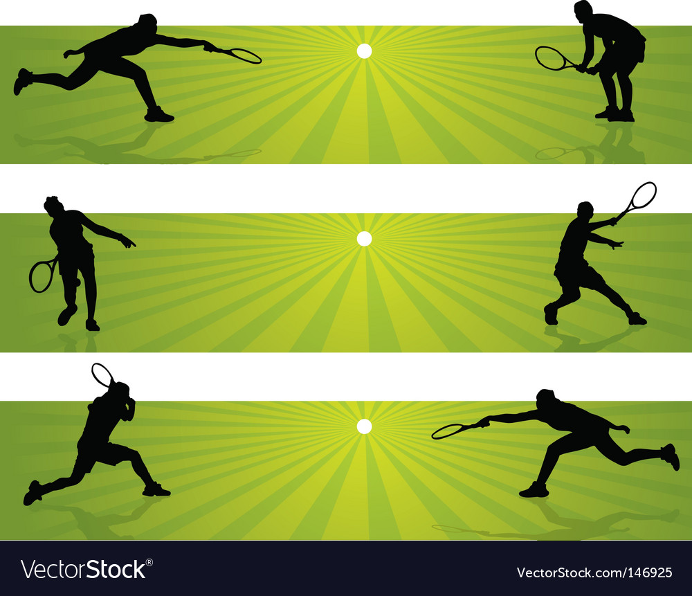 Tennis banners vector | Price: 1 Credit (USD $1)