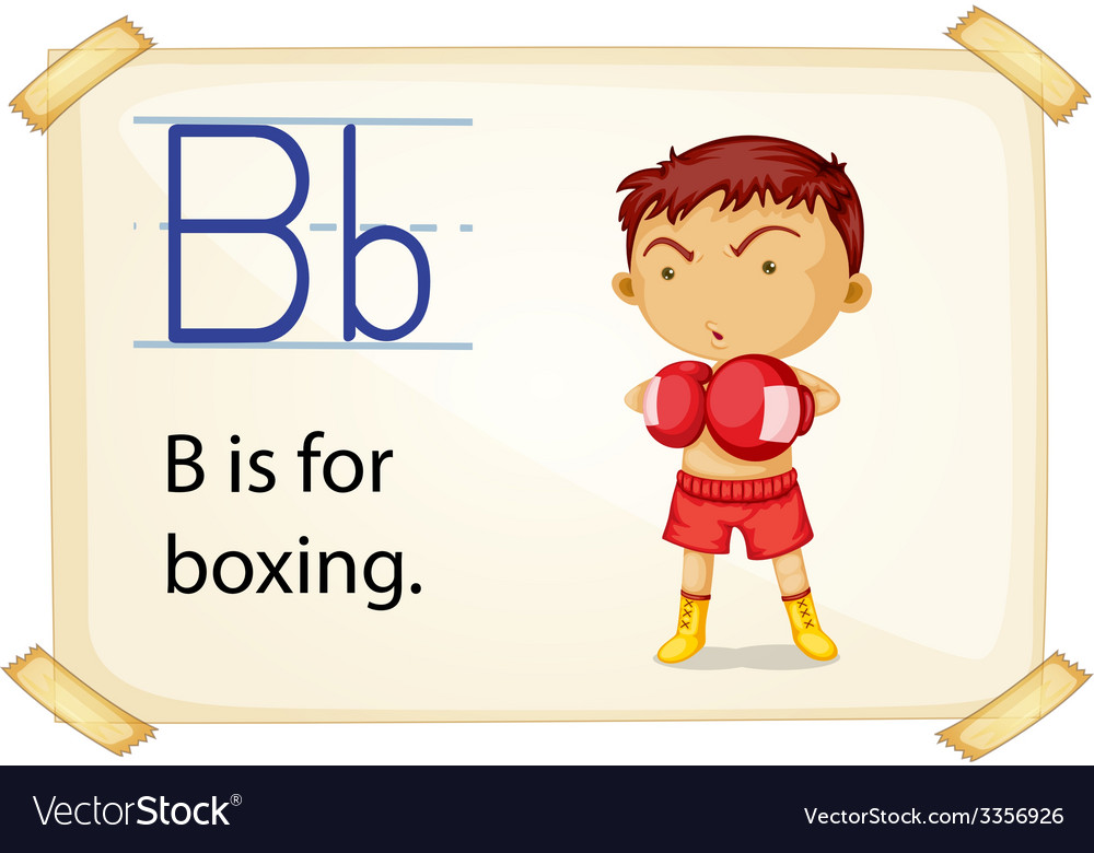 A letter b for boxing vector | Price: 3 Credit (USD $3)