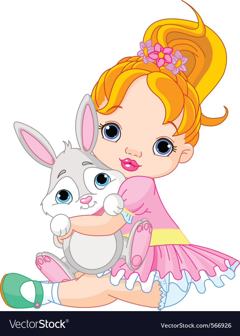 Cute little girl vector | Price: 3 Credit (USD $3)