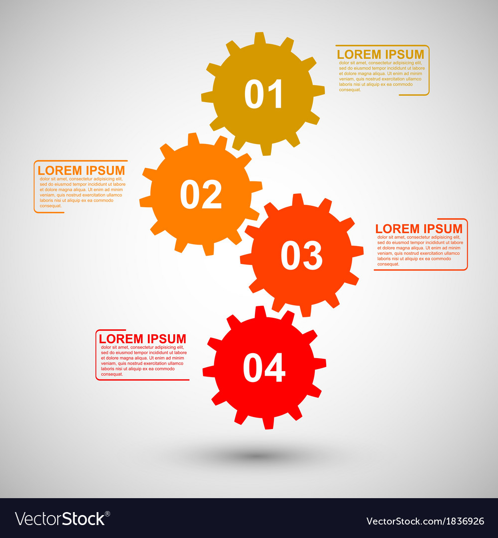 Gears infographic vector | Price: 1 Credit (USD $1)