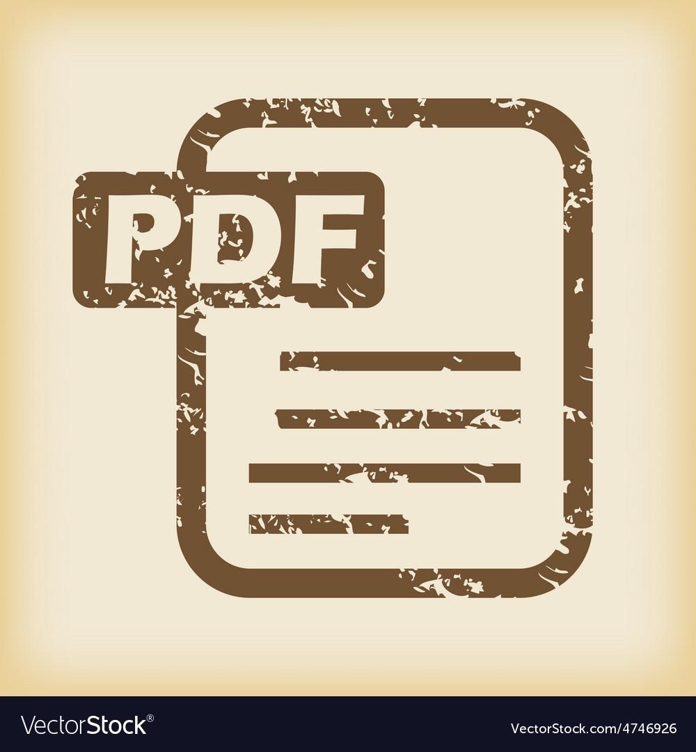 Grungy pdf file icon vector   Price: 1 Credit (USD $1)
