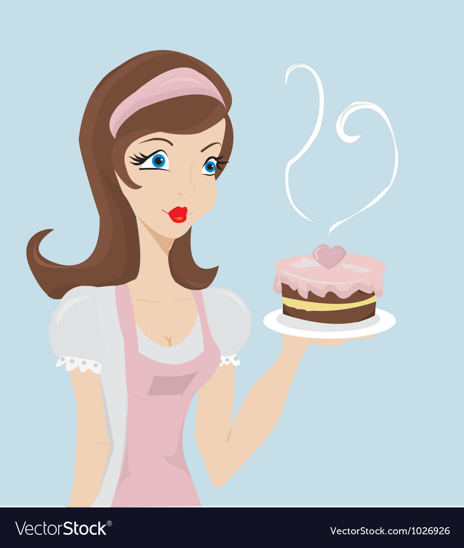 Lady baker vector | Price: 1 Credit (USD $1)